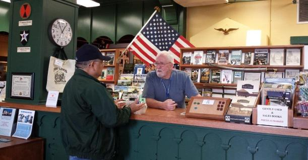 Museum Customer & Pat Powers