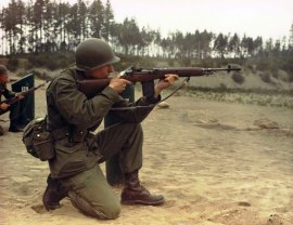 May 5, 1967 Fort Lewis M-14 training, PVT Danny McClair.
