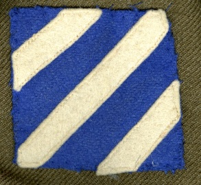 3rd Infantry Division shoulder sleeve insignia.