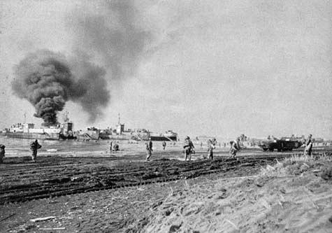 Landing at Anzio.