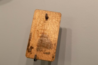 Japanese Army Wooden Identification Tag, circa 1942 (LEW-11404)
