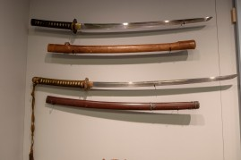 Japanese Army Officer's Daito Sword and Scabbard (LEW-13287), Japanese Army Officer's Katana Sword, Knot and Scabbard on loan from West Point Museum (Cat #s 02143.1, 02143.2, 02143.3)