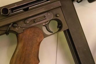 Detail, M1A1 Thompson Submachine Gun (LEW-00076)