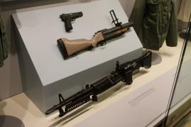 General Westmoreland's Pistol (LEW-00094), U.S. Army M79 Grenade Launcher (LEW-13426) and U.S. Army M60 Machine Gun (LEW-13431)