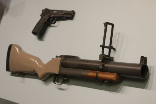 General Westmoreland's Pistol (LEW-00094) and U.S. Army M79 Grenade Launcher (LEW-13426)