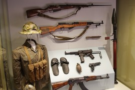 Viet Cong Uniform and various combatant weapons.