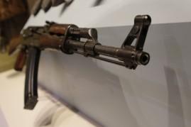 Detail, North Vietnamese Army Kalashnakov (AK47/AKM) Rifle (LEW-00222)