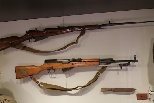 North Vietnamese Army Mosin-Nagant Carbine (LEW-00730), North Vietnamese Army Simonov Carbine with Folding Bayonet (LEW-02772)
