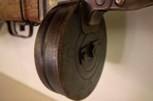 Detail, Soviet Submachine Gun, circa 1943 (LEW-00056)
