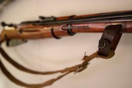Detail, Soviet Mosin-Nagant Carbine, circa 1945 (LEW-00730)