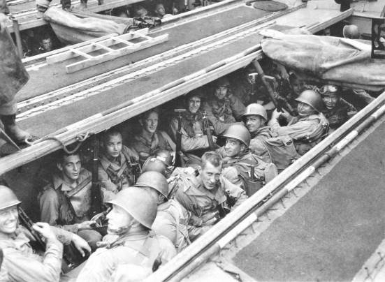 Rangers aboard LCA-1.
